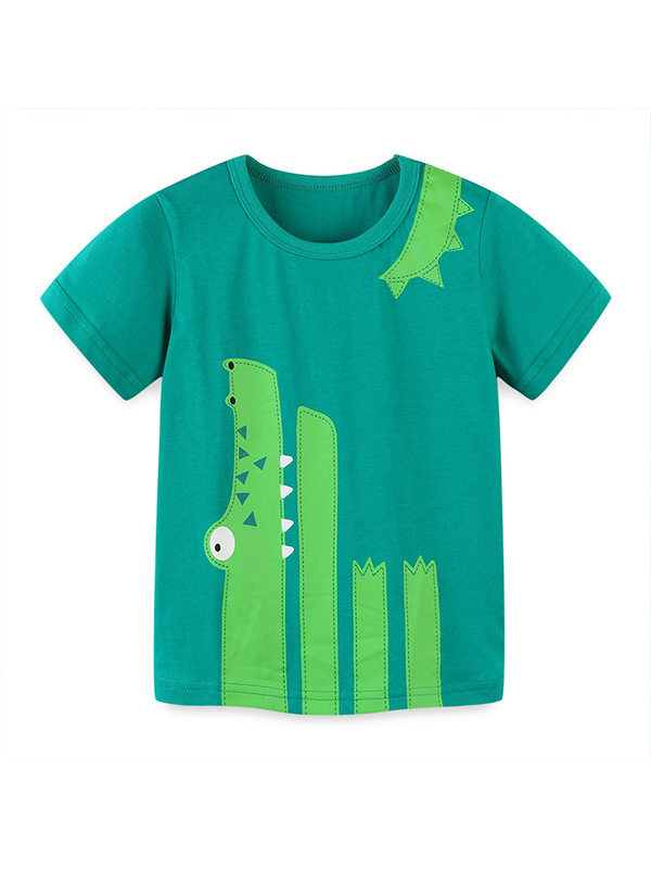 【18M-9Y】Boys Cartoon Print Short Sleeve T -shirt
