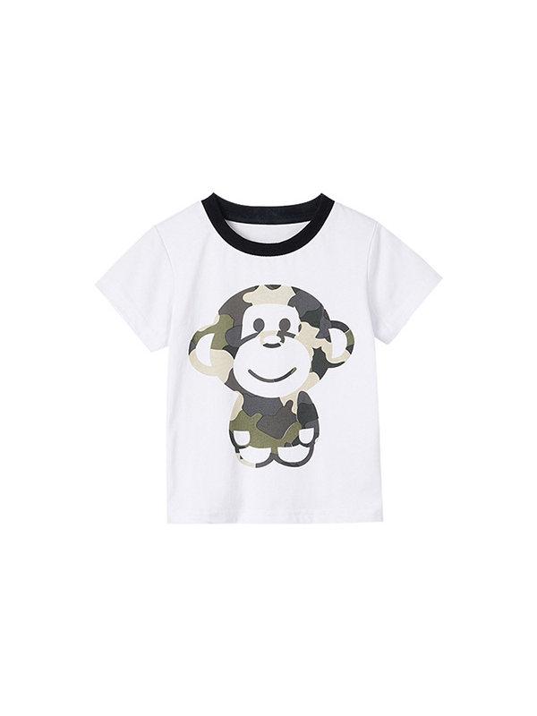 【2Y-9Y】Boys Cartoon Print Trend Short Sleeve T-shirt