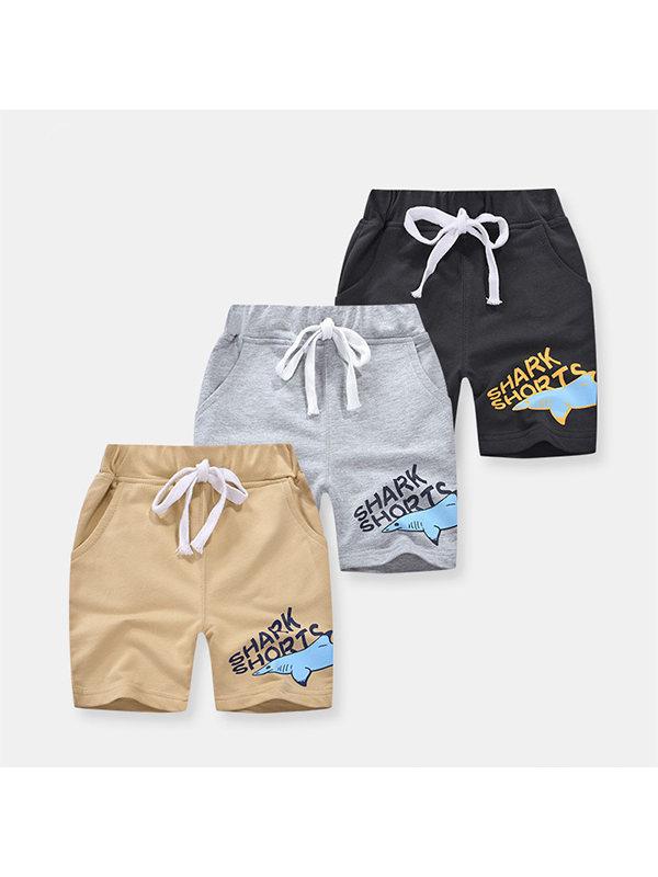 【18M-9Y】Boys Cartoon Print Trendy Shorts