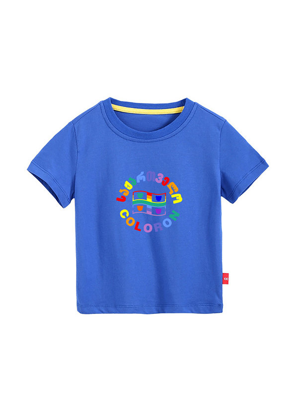 【3Y-11Y】Boy Short-sleeved Round Neck T-shirt