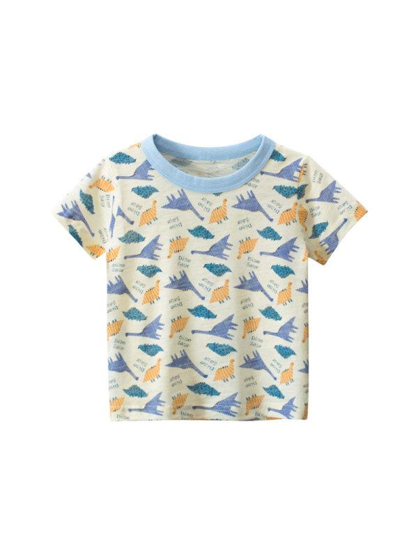 【18M-9Y】Boys Short Sleeve Personalized Print T-Shirt