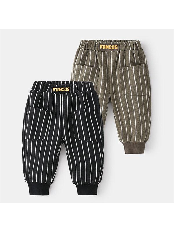 【18M-7Y】Boys Striped Trendy Trousers
