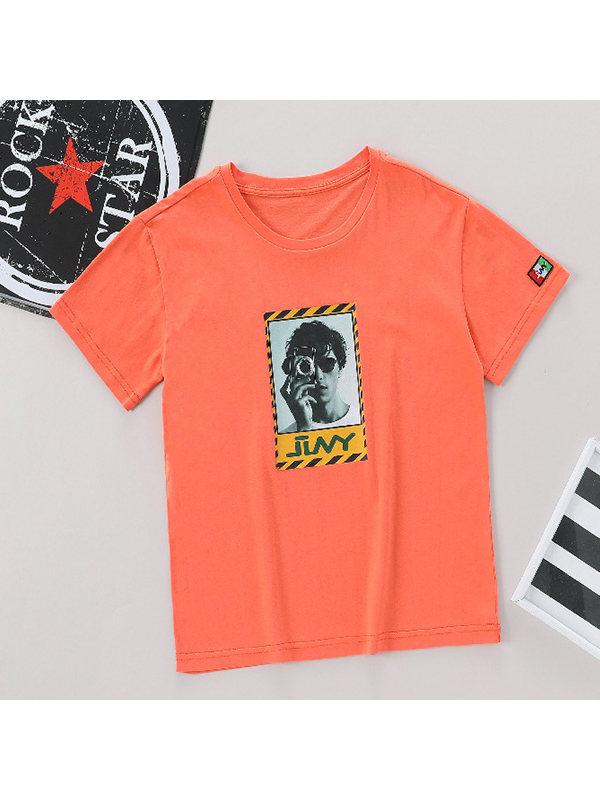 【6Y-15Y】Boys Fashion Avatar Short Sleeve T-shirt