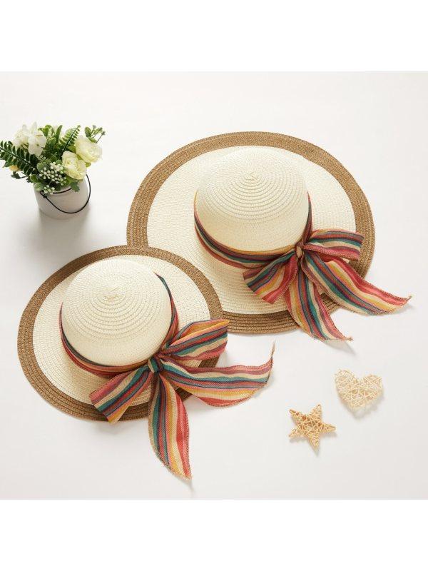 Fashion Straw Mom Girl Matching Hat