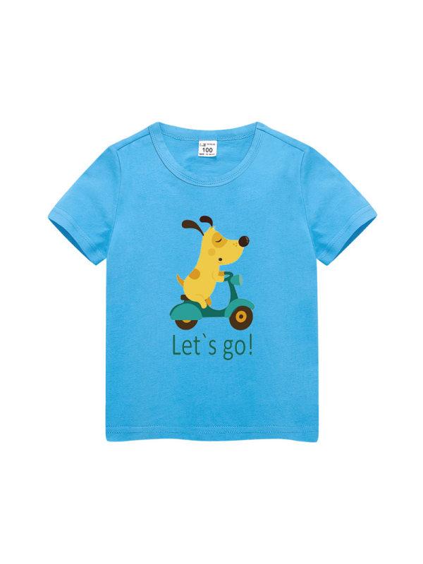【3Y-11Y】Boys Cotton Round Neck Short Sleeve T-shirt