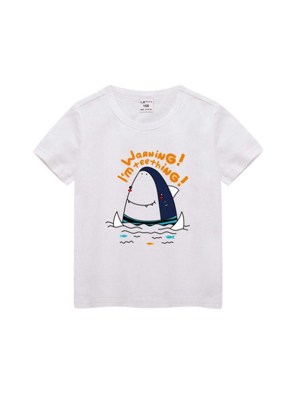 【3Y-11Y】Boy Cartoon Print Short Sleeve T-shirt
