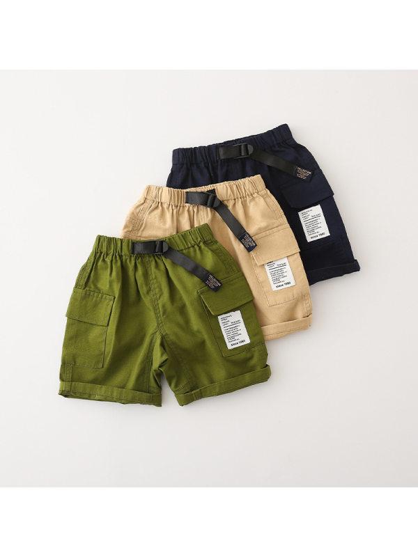 【18M-9Y】Boys Trendy Overalls Shorts