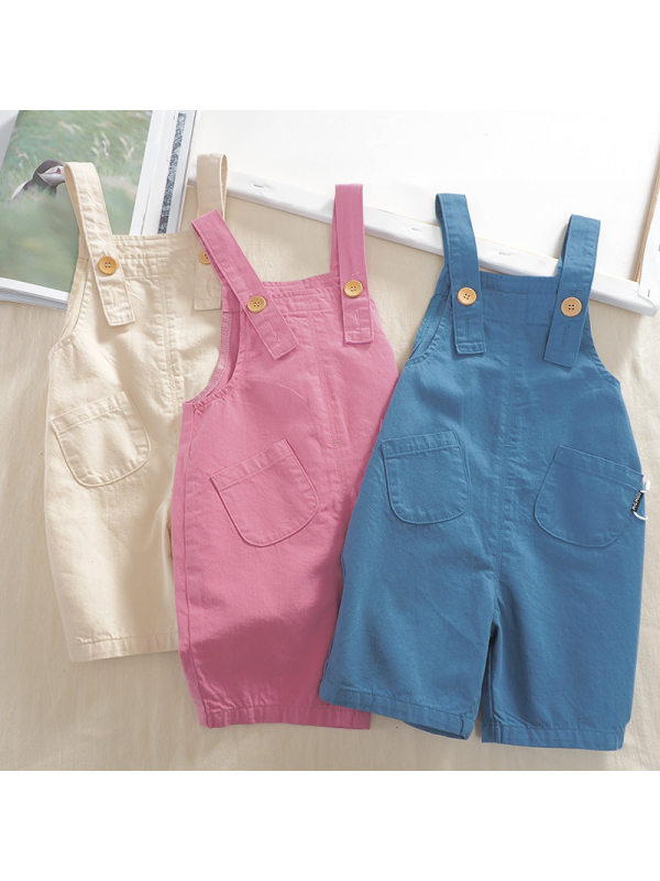【12M-7Y】Kids Trendy Cropped Overalls - 3201