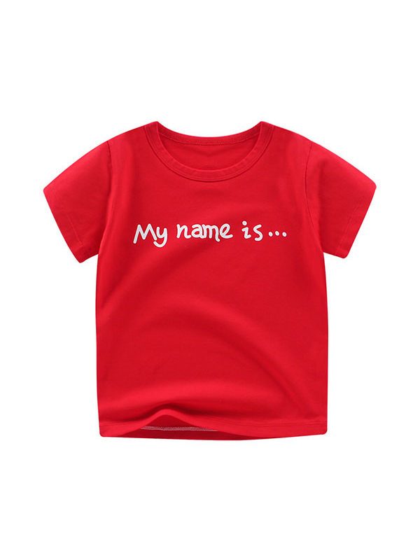 【12M-9Y】Lycra Cotton Short Sleeve T-shirt