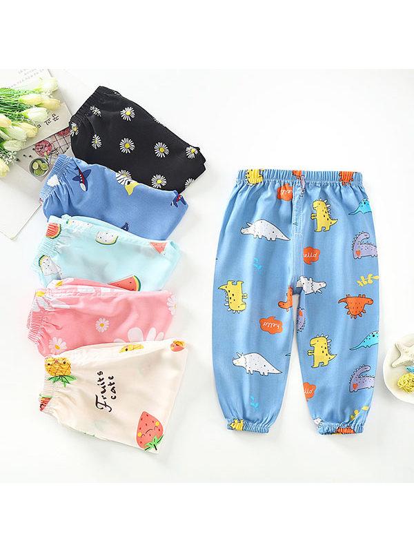 【12M-7Y】Girls Cartoon Printed Pants