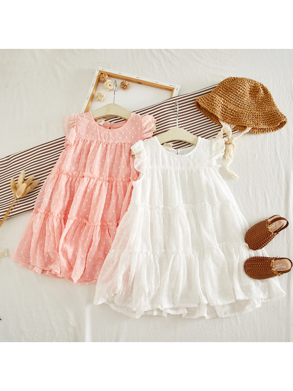 【18M-7Y】Girls Sweet Cute Sleeveless A-line Dress