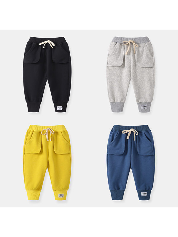【18M-9Y】Boys Trendy Knitted Sports Trousers