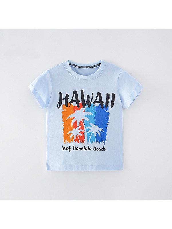 【18M-9Y】Boys Coconut Print Short Sleeve T-shirt