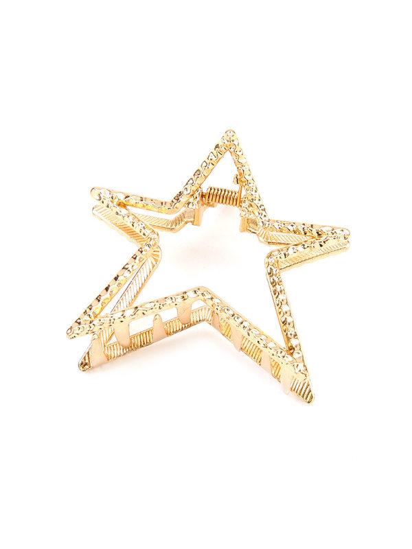 Golden retro asymmetrical five-pointed star elegant simple a