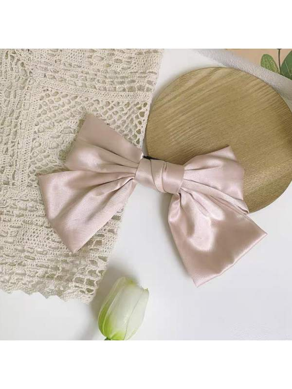 Candy-colored big bow top clip forged cloth sweet temperam