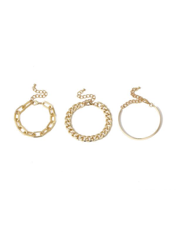 European And American Bracelet Set Gold Chain Bracelet