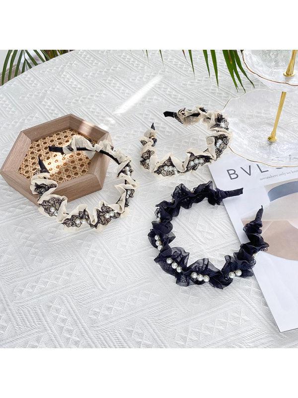 New style lattice mesh pearl womens European and American