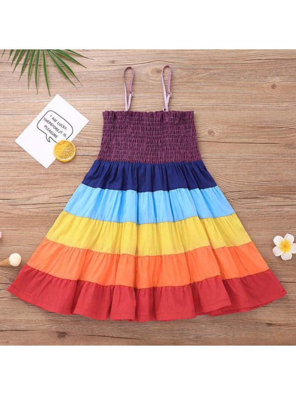 【12M-5Y】Girl Sweet Color Block Dress