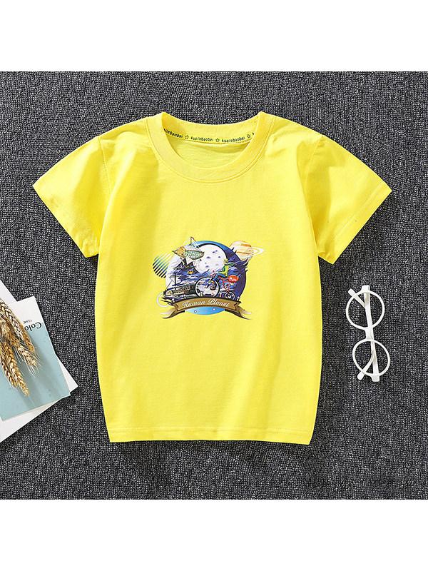 【18M-9Y】Boys Personality Printed Short-sleeved T-shirt