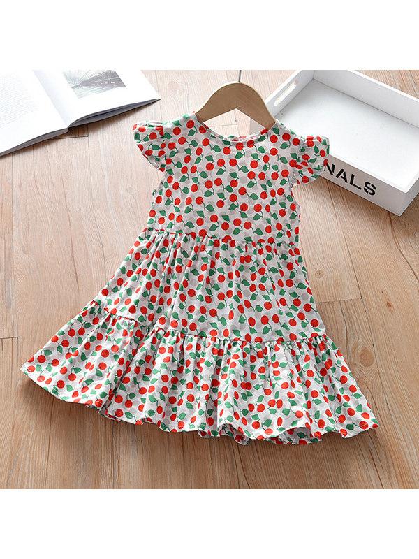 【18M-11Y】Girls Cherry Full Print Dress