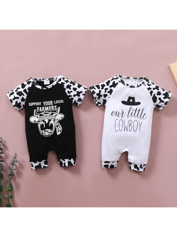 【3M-24M】Baby Cow Print Coveralls