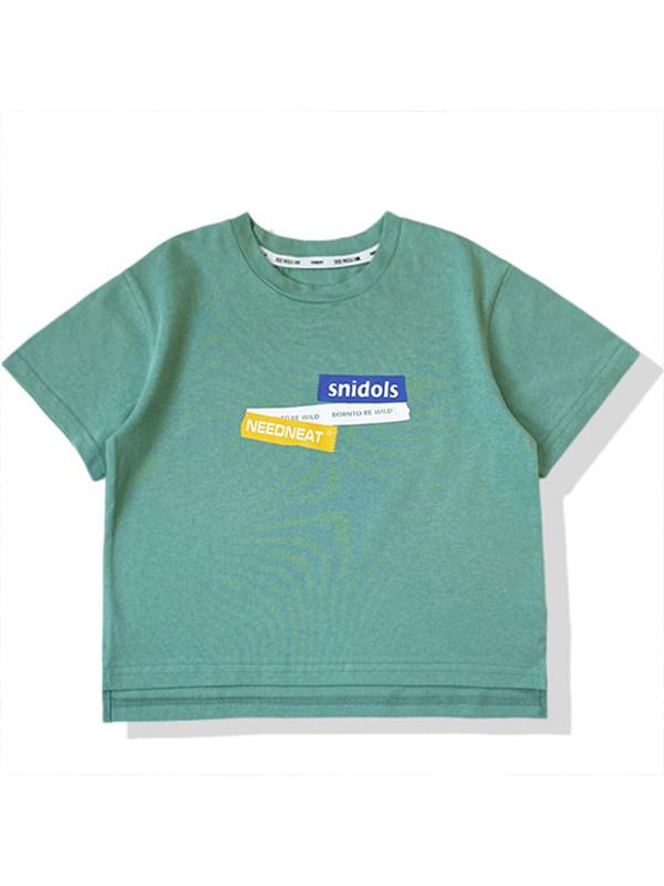【18M-13Y】Boys Letter Print Short Sleeve T-shirt