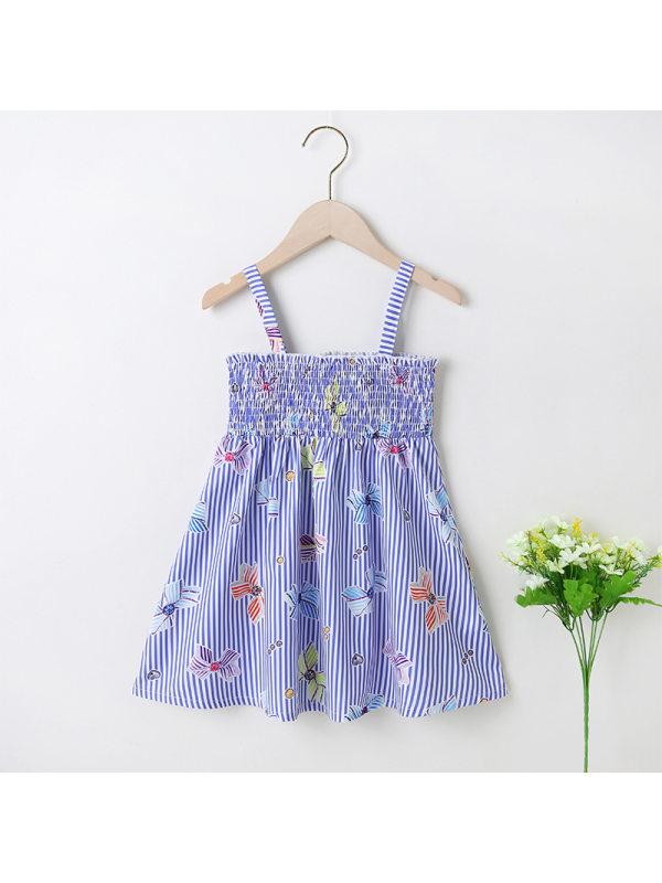 【18M-7Y】Girls Print Suspender Skirt