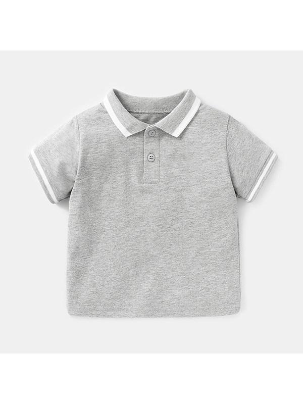 【6M-4Y】Baby Boy Lapel Short-sleeved Polo Shirt
