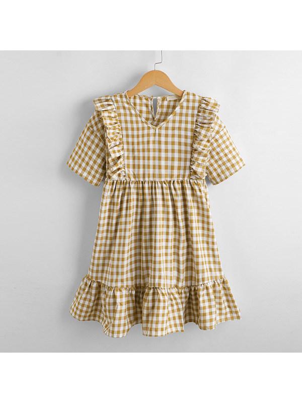 【3Y-13Y】Girls Plaid Dress