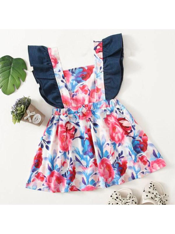 【18M-5Y】Sweet Pink Flower Print Dress