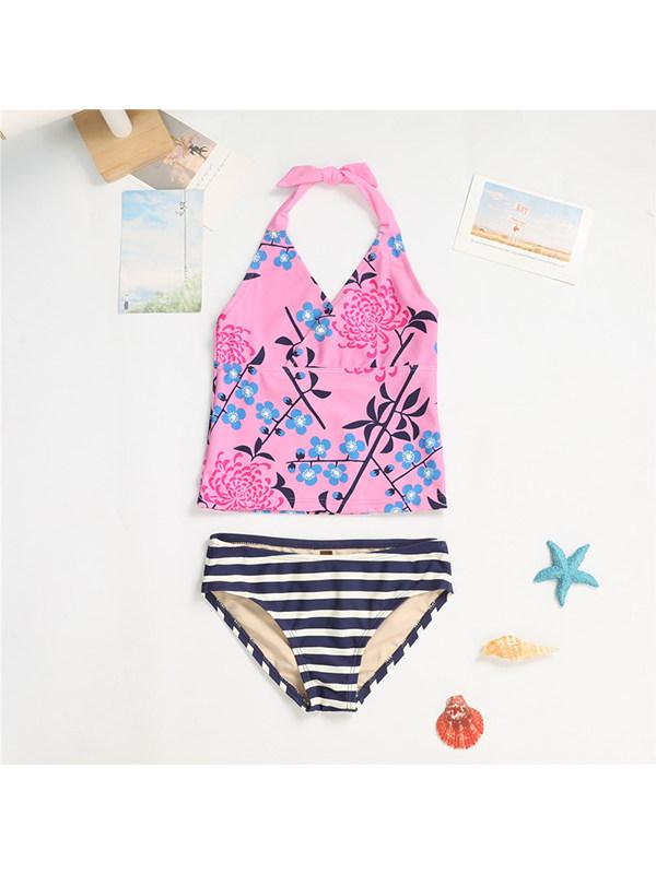 【18M-11Y】Girls Cute Print Split Swimsuit