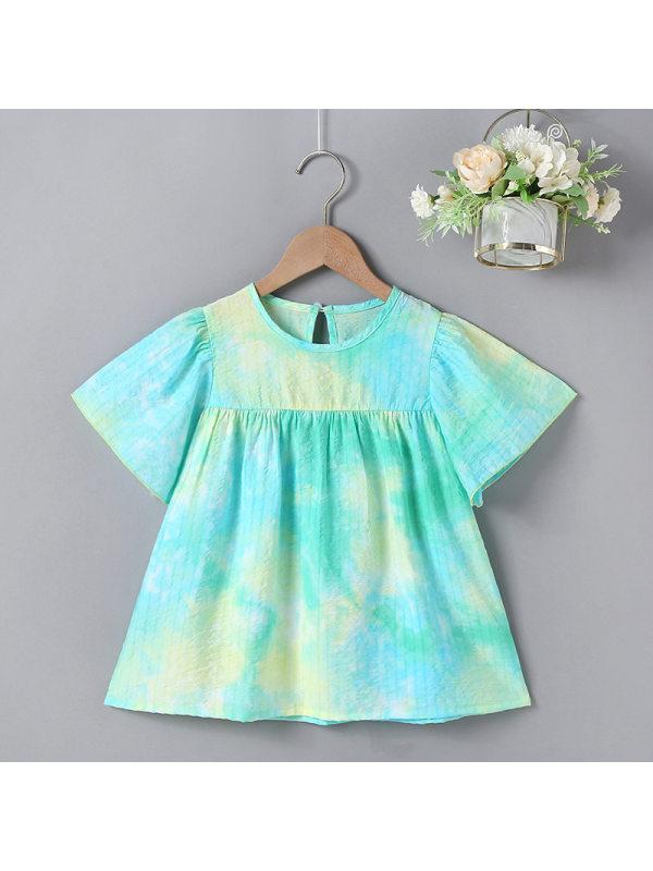 【18M-7Y】Girls Tie-dye Princess Dress