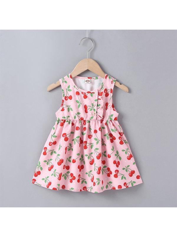 【6M-2.5Y】Girls Toddler Sleeveless Princess Dress