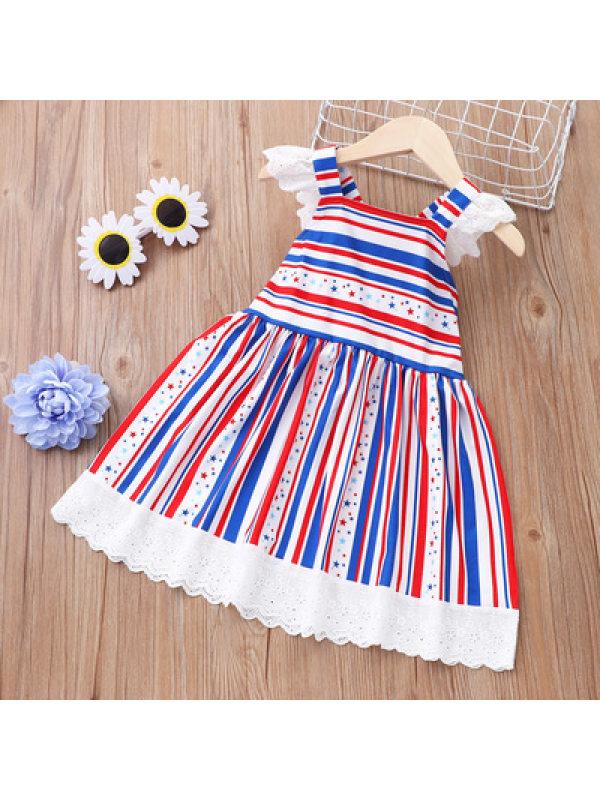 【12M-4Y】Cute Flag Print Dress