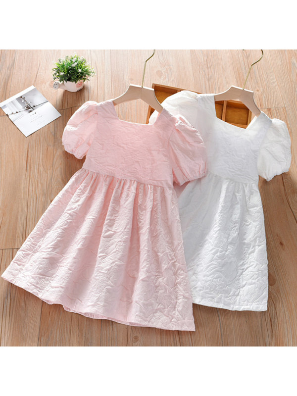 【18M-7Y】Girl Sweet Puff Sleeve Dress