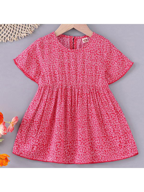 【6M-2.5Y】Baby Girl Sweet Red Polka Dot Dress