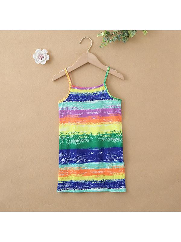 【18M-7Y】Girls' Round Neck Tie-dye Camisole Dress
