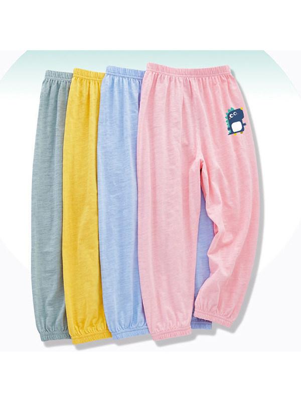 【18M-11Y】Children's Cartoon Print Loose Lantern Casual Trousers