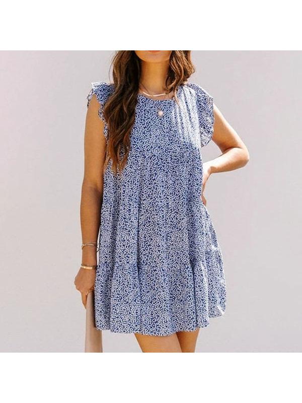 Loose Sleeve Floral Printed Loose Dress