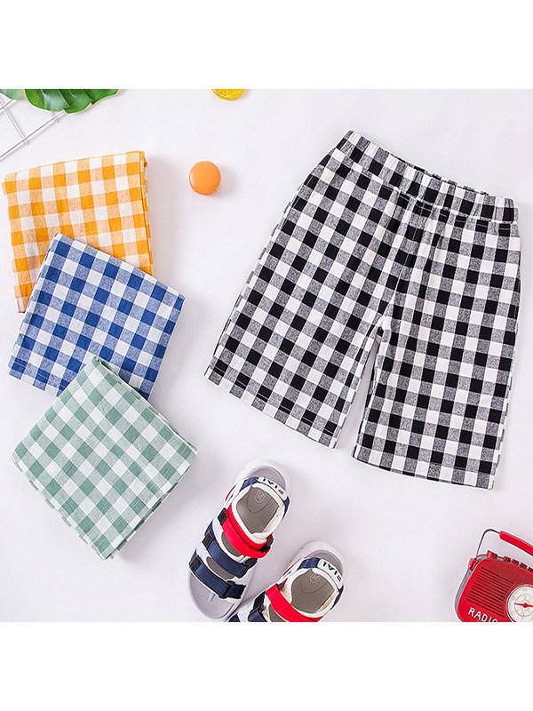 【2Y-11Y】Boys' Checkered Casual Sports Pants