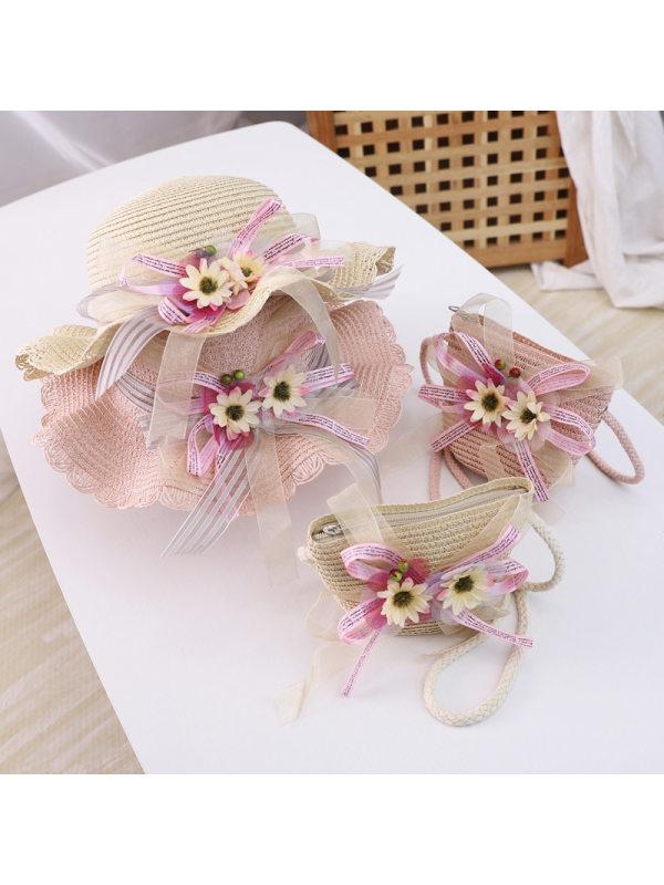 Sweet Flower Hat and Bag Set