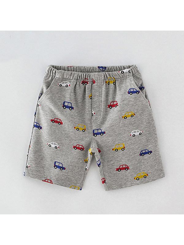 【18M-9Y】Boys Cartoon Print Shorts