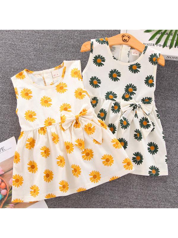 【12M-4Y】Girl Sweet Floral Sleeveless Dress