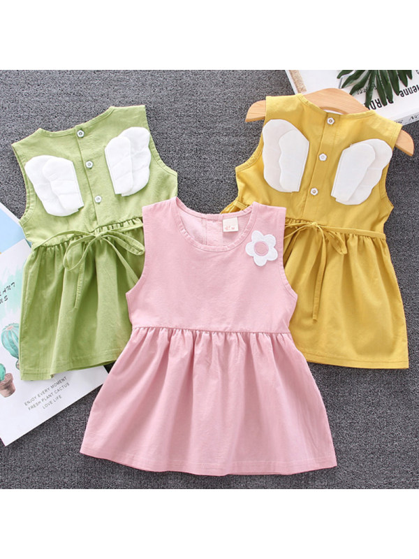 【12M-4Y】Girl Sweet Wings Sleeveless Dress