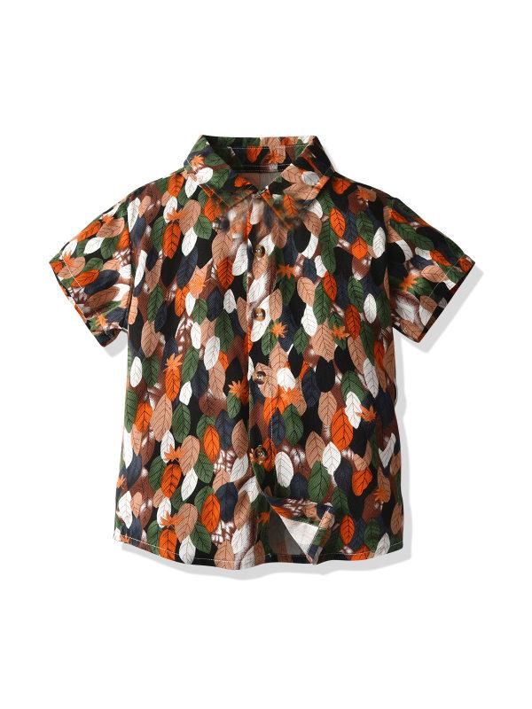 【12M-7Y】Boys Short-sleeved Shirt
