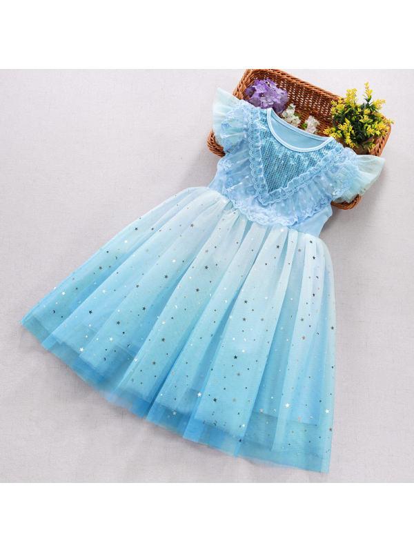 【3Y-11Y】Big Girl Gradient Puffy Dress