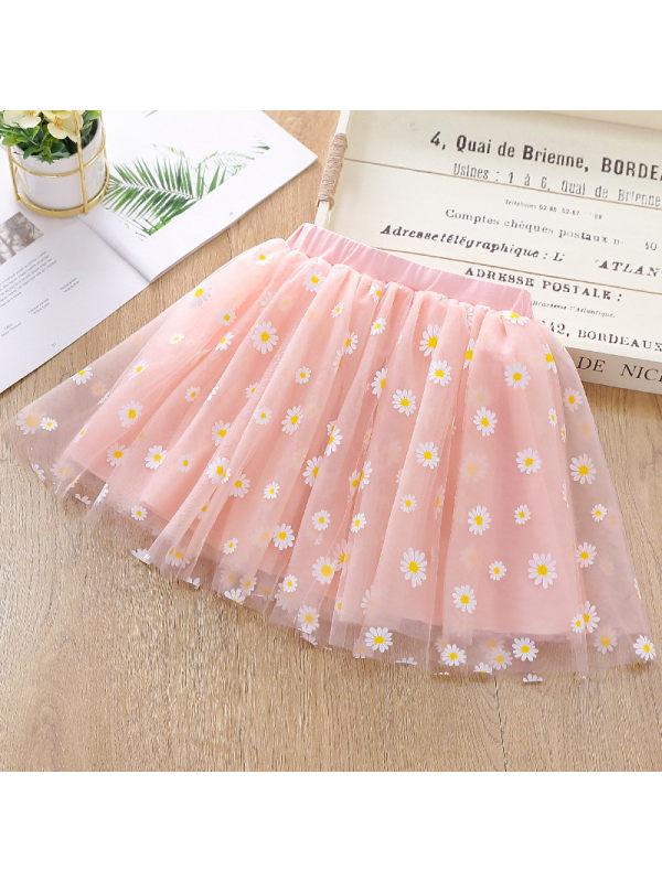 【3Y-11Y】Girl Printed Mesh Skirt