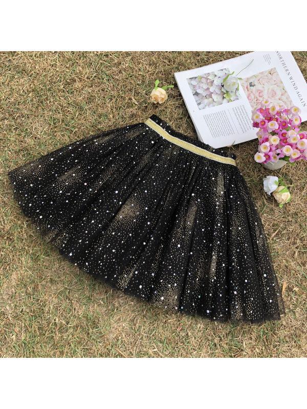 【2Y-11Y】Girls Fluffy Mesh Short Skirt