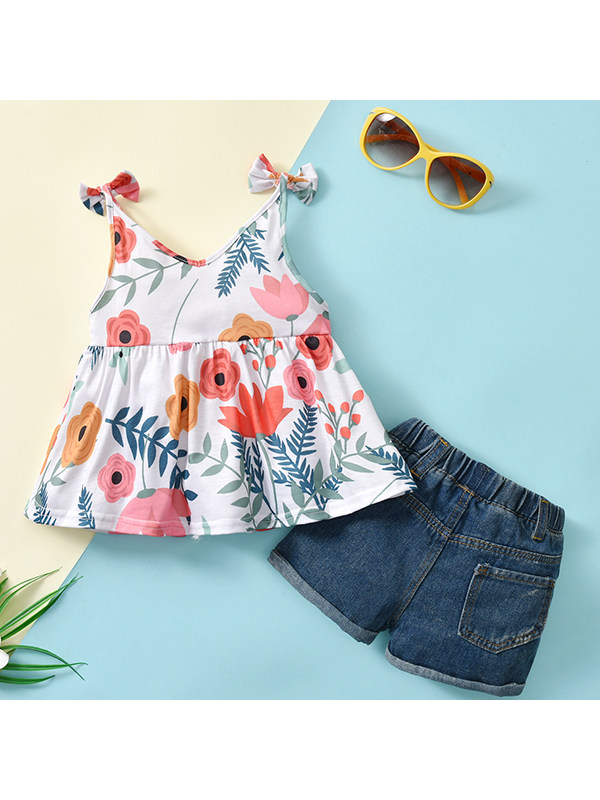 【12M-7Y】Girls Summer Two-piece Suit