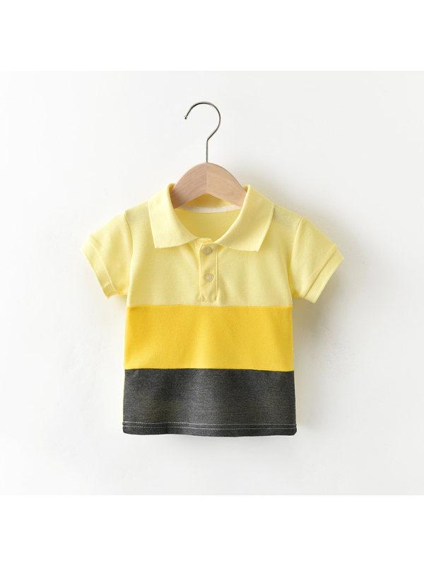 【12M-5Y】Boys' Colorblock Polo Sports Shirt
